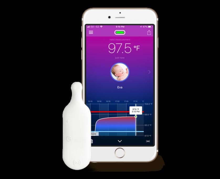 Thermeeno phone + thermometer